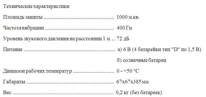 Отпугиватель кротов на солнечных батареях Торнадо ОЗВ.03