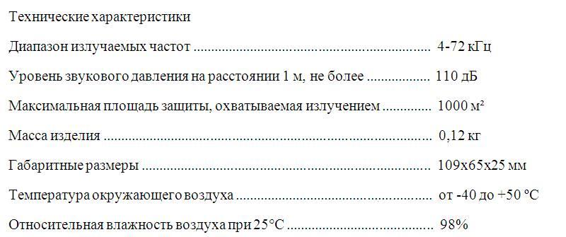 Прибор для борьбы с грызунами Град А-1000 ПРО+